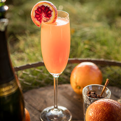 Sparkling Blood Orange mocktail