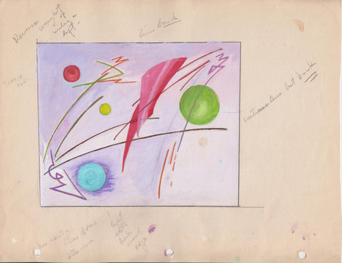 201 Abstract Study, c. 1950, gouache by Helen Lowe Kendall [1892-1970]