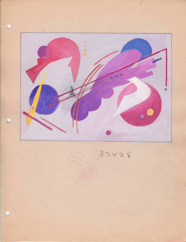 206 Abstract Study, c.1950 gouache, Helen Lowe Kendall [1892-1970]