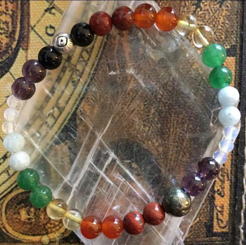 Free Chakras for Charity Bracelet from Lighthouse Crystals & Cosmic Creations