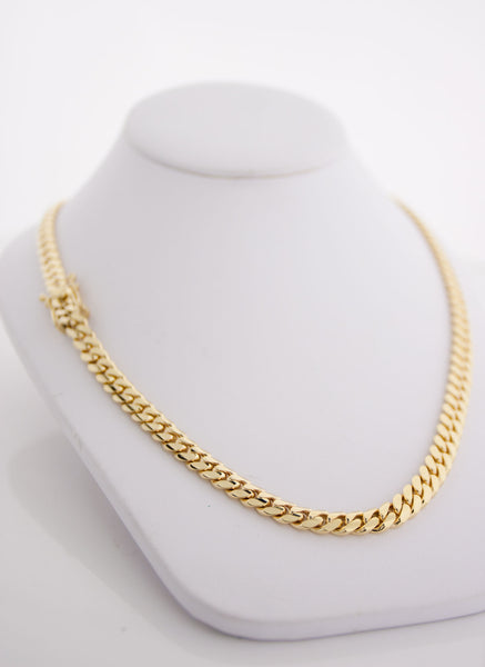 "Miami Cuban Link Chain 7mm 26"" 14K"