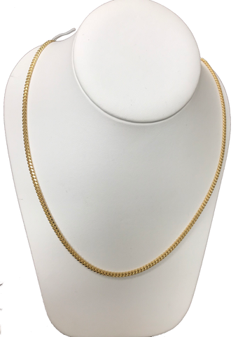 "Miami Cuban Link Chain 3mm 24"" 14K"