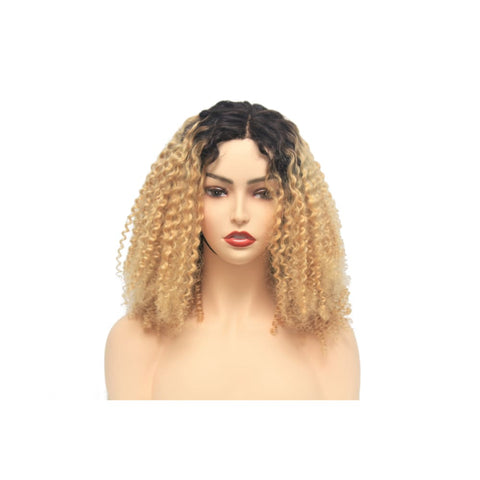 Russian Blonde Ombre Curly Human Hair Lace Closure Wig - $280.00 Lace Front Wig QualityHairByLawlar