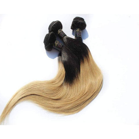 Russian Straight Ombre Virgin Human Hair Extensions - 14 $70.00 Russian Virgin Hair Extensions QualityHairByLawlar
