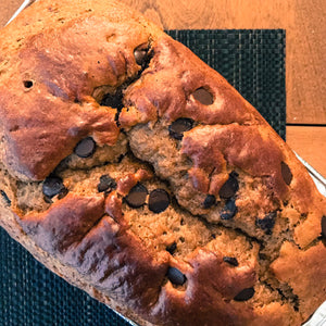 Amazing Gluten Free Banana Chocolate Chip Bread