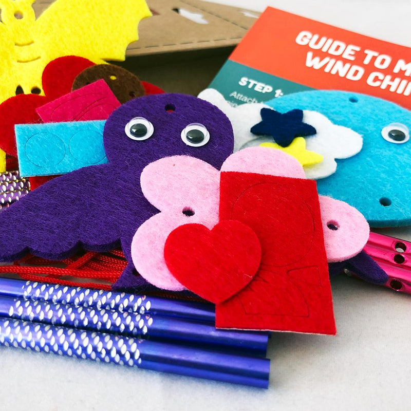 Daju Wind Chime Kit - Bird, Butterfly and Whale - Craft Kit for Kids - Daju Toys