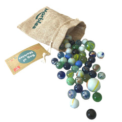 Daju Bag of Marbles - 50 marbles in assorted designs - Classic Playground Game - Daju Toys