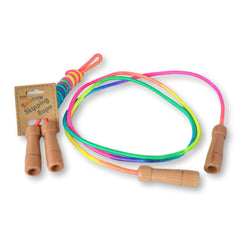 Daju Skipping Rope for Kids -Pack of 5 - Adjustable Length with Wooden Handles