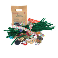 Daju Button Flower Bouquet - DIY Craft Button Kit for Kids