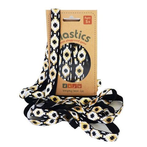Daju Elastics Playground Game - Black and Gold Aztec