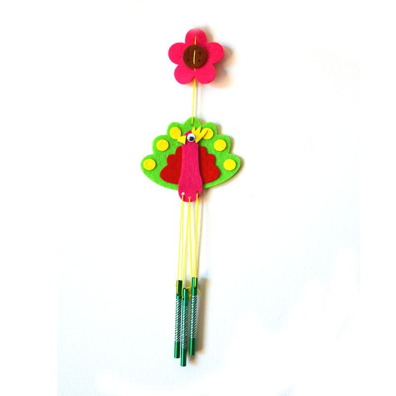 Daju Wind Chime – Peacock – Craft Kit for Kids