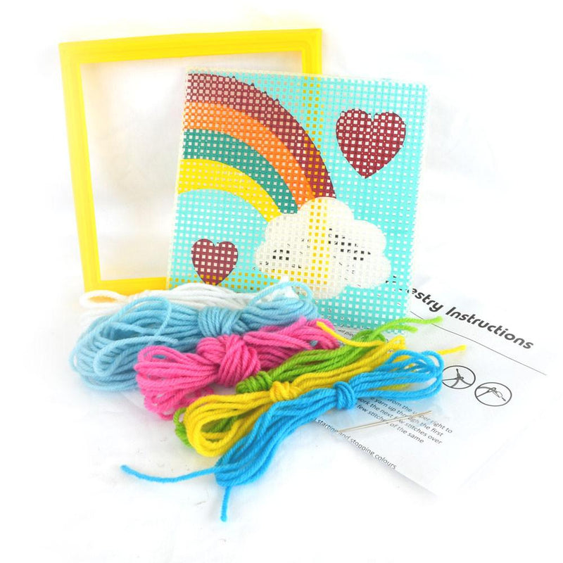 Daju Rainbow Tapestry Kit - Craft Set for Kids - Daju Toys