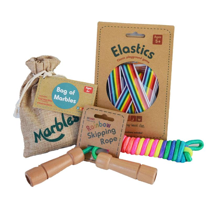 Daju Elastics Playground Game in Rainbow Design