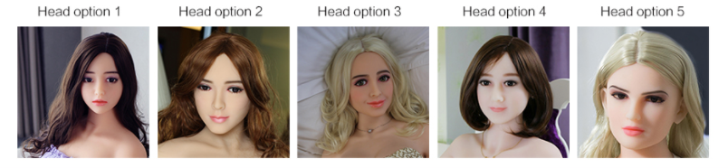 Sex robot head options