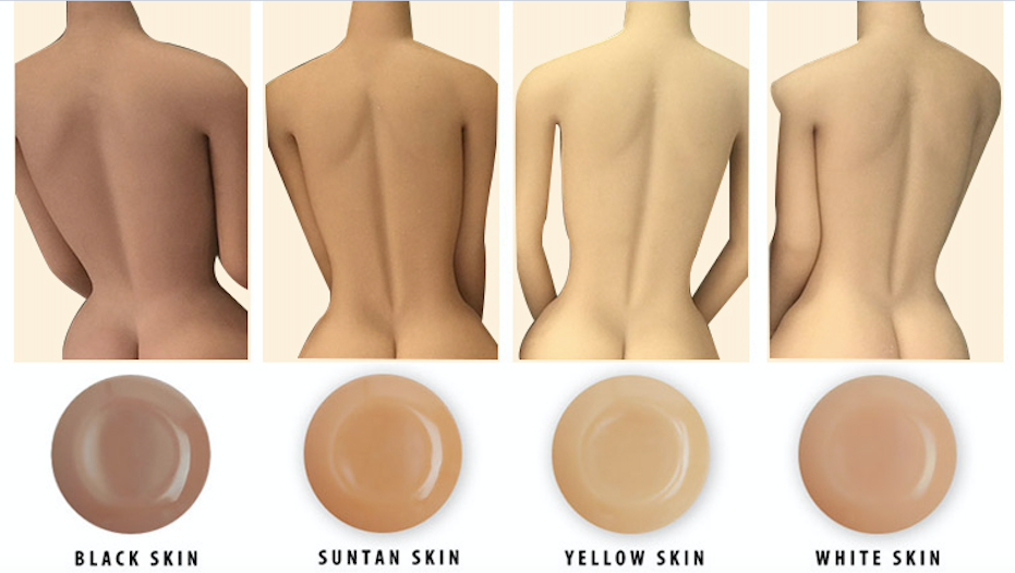 sex robot skin tone options