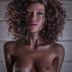Elena: Curly Hair Black Sex Doll