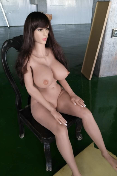 Using my brunette sex doll as i please