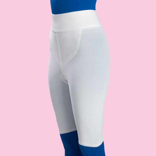 Compression Girdle Above Knee - 2nd Stage, White (#2076)