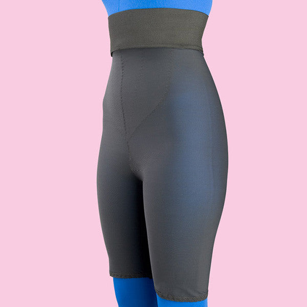 High Waist Compression Girdle Above Knee - 2nd Stage, Black (#2080)