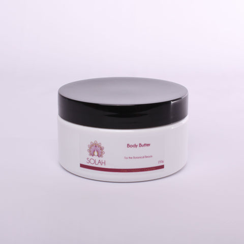 thick natural lavender sandalwood coconut shea body butter moisturiser