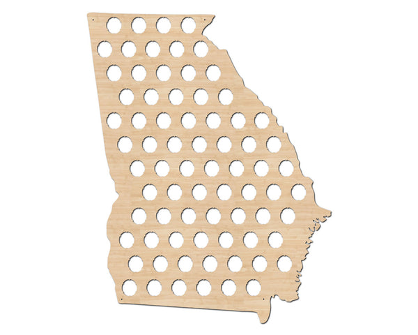 Georgia Beer Cap Map State Flag
