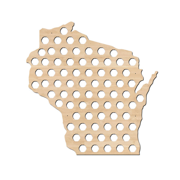 beer cap map, wisconsin state map