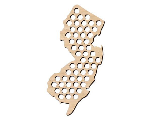beer cap map, new jersey, state map