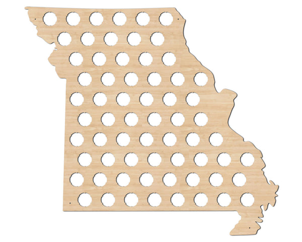 Missouri Beer Cap Map State Flag