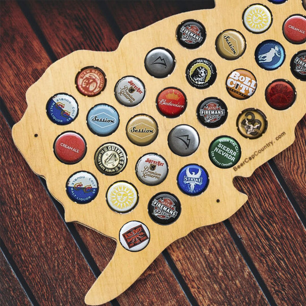 NJ Beer Cap Map New Jersey