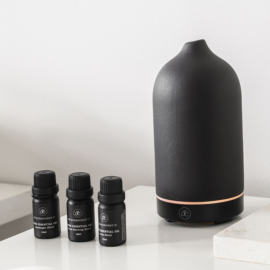 Ceramic Diffuser and Essential Oil Kit for better sleep