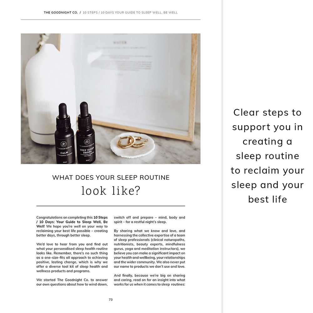 10 Steps / 10 Days: Your Guide to Sleep Well, Be Well