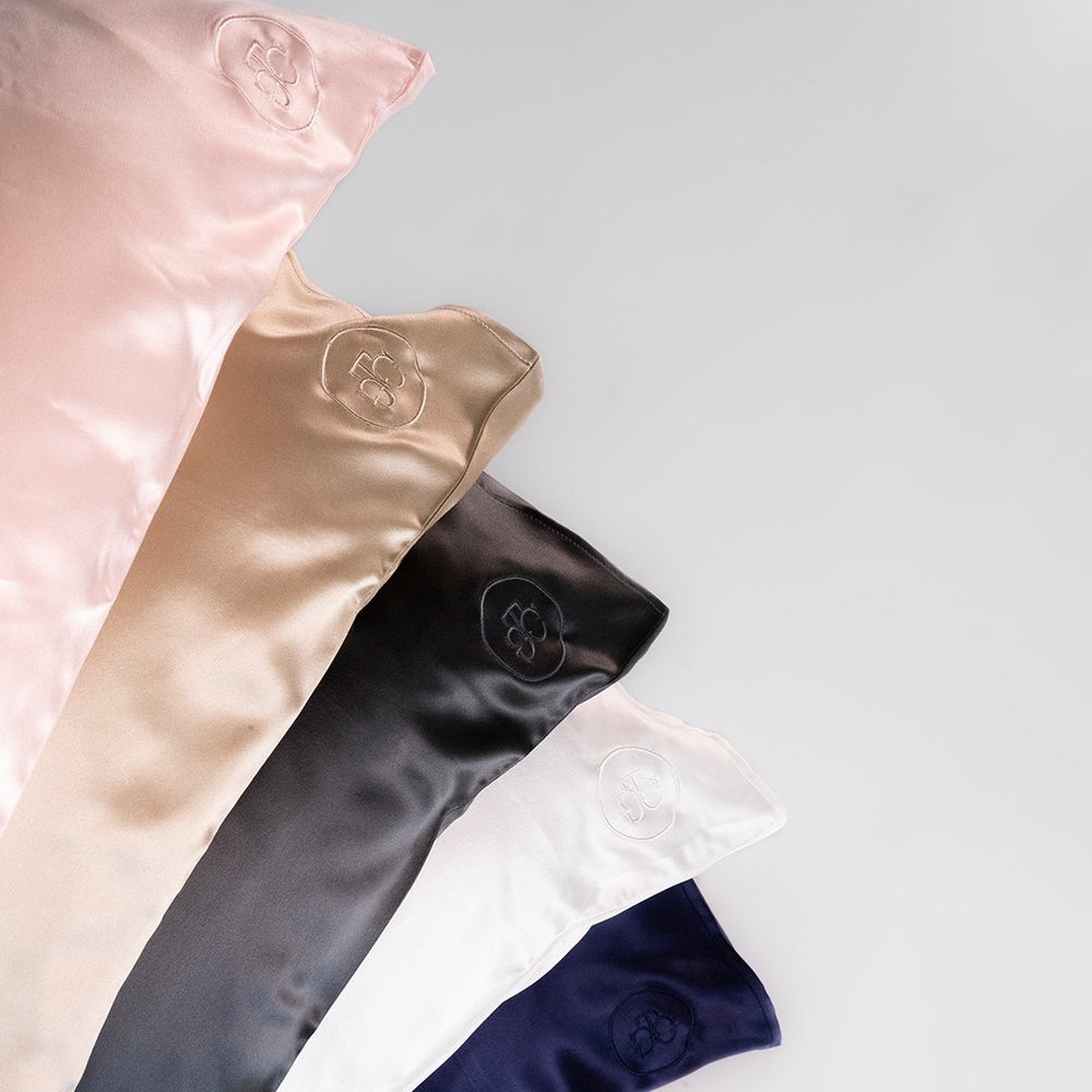 Silk Pillowcase Navy