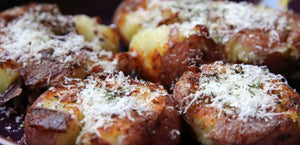 Pan-fried Smashed Potatoes