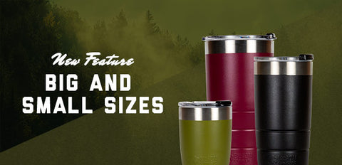 Bison tumblers sizes