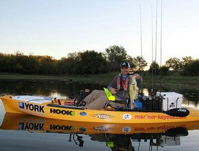 Alan Sladek, Kayak Bass Angler. Bison Coolers