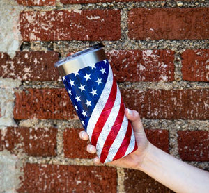 22 oz Bison Tumbler - American Flag - Limited Edition