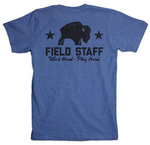 Bison Coolers T-Shirts. Field Staff Shirt - Royal Blue