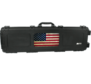 Bison 5317 Large Roller Hard Case-Bison Coolers-Black-American Flag-Bison Coolers