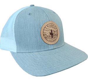 Bison Leather Patch Cap