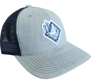 Bison Gray Navy Patch Cap