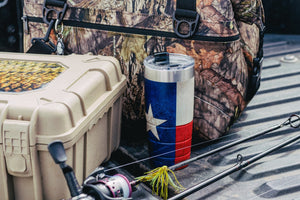 22 oz Bison Tumbler - Texas Flag - Limited Edition-Drinkware-Bison Coolers-Texas Flag-Bison Coolers
