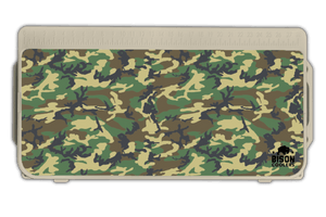Woodland Camo Bison Cooler Lid Graphic. Customize your Bison cooler!