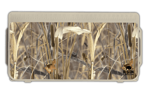Cooler Accessories | Reeds N Weeds™  Lid Graphic from Hunting Attractions©. Best Coolers For Hunting. UV Resistant, Anti-Skid Texture, Added Durability.