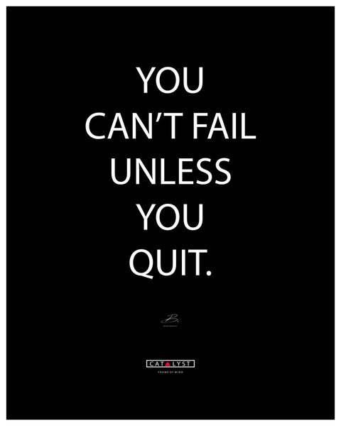 """You Can't Fail If You Don't Quit"""