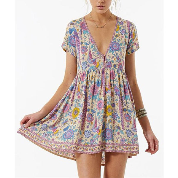 Boho Short Lovebird Dress