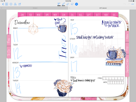 digital planner stylish planner