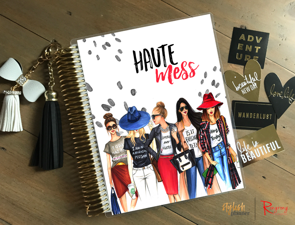 Rongrong illustrations stylish planner