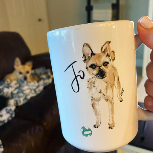 Stylish Planners Home Decor and Stylish Gifts - Custom Pet Illustrated Mug