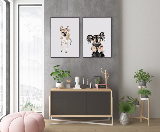 Stylish Planners Home Decor and Stylish Gifts - Custom Pet Illustration (Digital File)