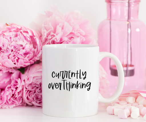 Stylish Planners Home Decor and Stylish Gifts - Currently Overthinking Mug